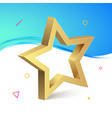 golden 3d star isolated object medal decoration vector image vector image