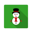 Icon Snowman for flat design vector image vector image