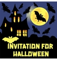 Invitation for Halloween party card vector image vector image