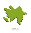isometric map azerbaijan detailed vector image vector image