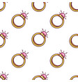 jewelry engagement ring seamless pattern gold vector image vector image