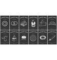 labels with bakery and desserts vintage set vector image