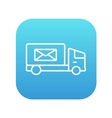 Mail van line icon vector image