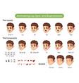 man cartoon character for animating lip sync vector image vector image