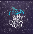 merry christmas and happy new year 2019 greeting vector image vector image