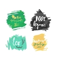 natural organic product label vector image