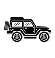 off road car side view black vector image