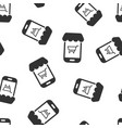 online shopping icon seamless pattern background vector image