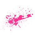 pink blot on black background vector image vector image