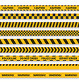 police tape yellow taped barricade warning danger vector image