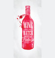 poster wine water feelings vector image vector image