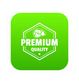premium meat quality icon green vector image vector image