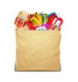presents in paper bag vector image vector image