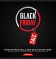 promotion design letter black friday sale banner vector image vector image