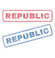 republic textile stamps vector image vector image