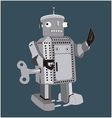 retro toy robot vector image vector image