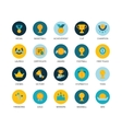Round icons thin flat design modern line stroke vector image vector image