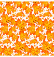 seamless autumn pattern with maple leaves vector image vector image