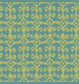 seamless ikat pattern with yellow and blue vector image vector image