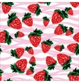 Seamless pattern made of strawberries of vector image