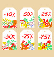 set with autumn sale labels vector image