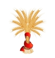 Sheaf of wheat vector image vector image
