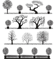silhouette trees vector image