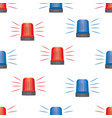 siren police lights seamless pattern vector image