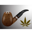 smoking pipe vector image vector image