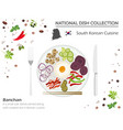 south korean cuisine asian national dish vector image