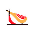 spanish hammon food flat flat vector image