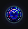 speedometer for electric car with battery charge vector image vector image