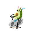 sports fruit avocado character on a stationary vector image