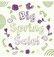 Spring sale flower composition background Hand vector image