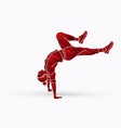 street dance b boys dance hip hop dancing action vector image