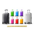 suitcases for travel vector image