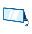 tablet connection technology mobile cable charger vector image