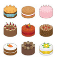 tasty cakes vector image vector image