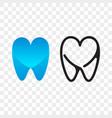 tooth logo dentist stomatology dental icon vector image vector image