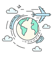 travel around earth transport vector image vector image
