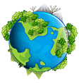 Tree and mountains on earth vector image