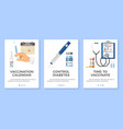 vaccination diabetes banners vector image vector image