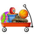 Wagon full of toys vector image vector image