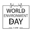 world environment day card or background with tree vector image vector image