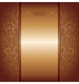 brown with gold damask pattern royal invitation vector image