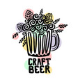 craft beer hand drawn vector image