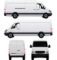 White Commercial Van vector image