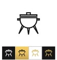 BBQ symbol or meal cooking grill icon vector image