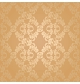 seamless background flowers floral gold vector image