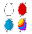 a cut out colored ester eggs symbol shape with vector image